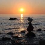 Le pietre in equilibrio dell' artista Tittarelli